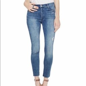 MOTHER Denim Stunner Ankle Fray Jean, size 24